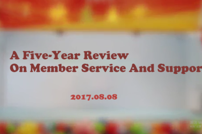 [Video] Five-Year Review on Member Service and Support